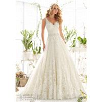 Mori Lee 2821 Tank Lace Ball Gown Wedding Dress - Crazy Sale Bridal Dresses|Special Wedding Dresses|