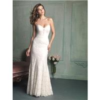 Allure Bridals 9107 Lace Sheath Wedding Dress - Crazy Sale Bridal Dresses|Special Wedding Dresses|Un