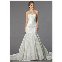 Mark Zunino for Kleinfeld 74530 - Mermaid Sweetheart Dropped Floor Chapel Lace - Formal Bridesmaid D