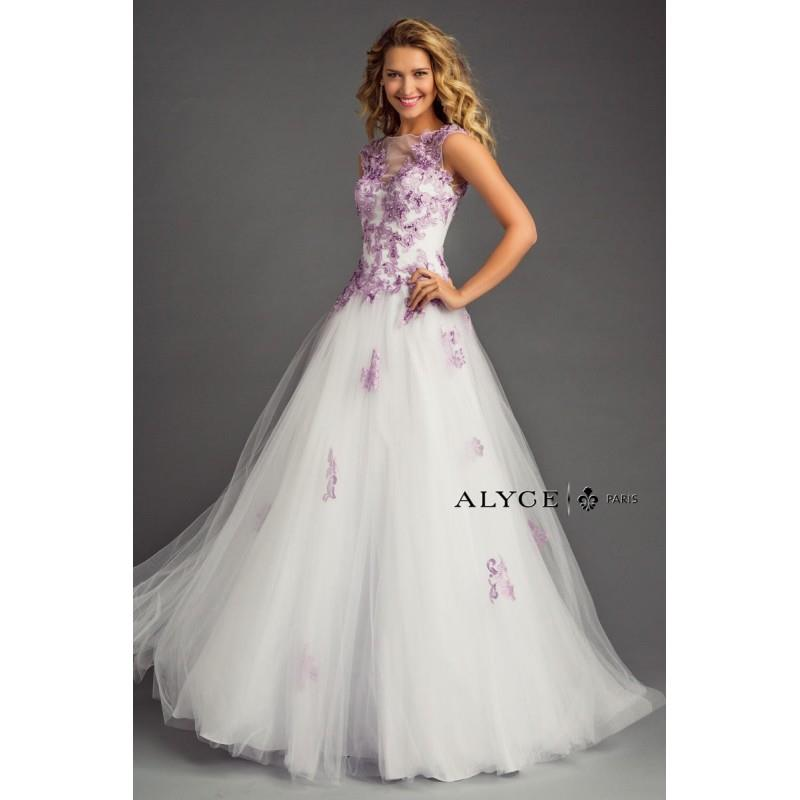 My Stuff, White/Lilac Alyce Prom 6362 Alyce Paris Prom - Rich Your Wedding Day