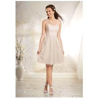 Alfred Angelo Modern Vintage Bridesmaid Collection 8632S - A-Line One Shoulder Natural - Formal Brid