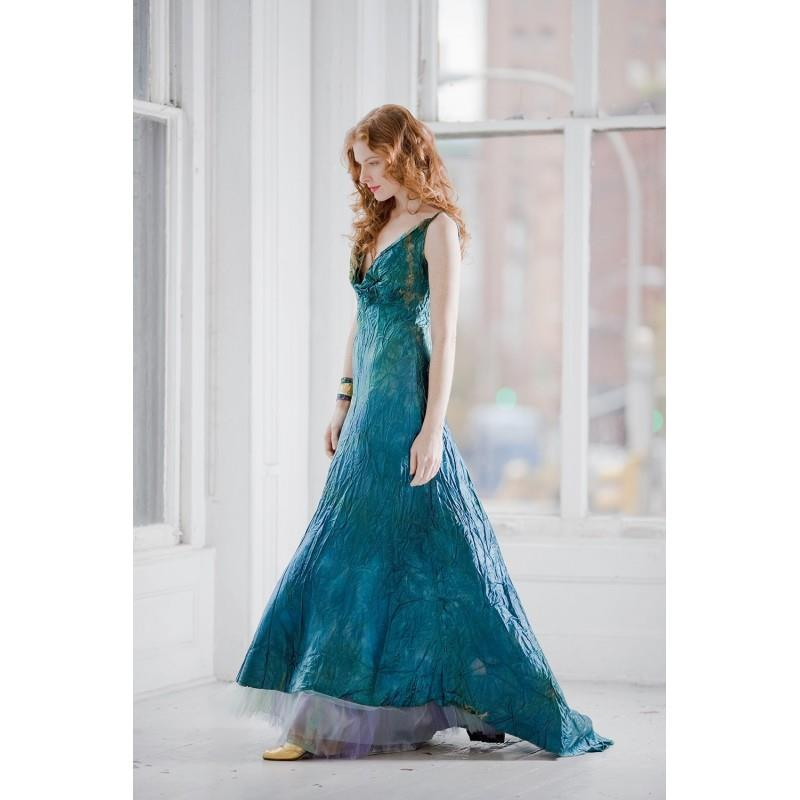 My Stuff, Teal Blue wedding dress and crinoline boho beach bridal gown mother of the bride ocean blu