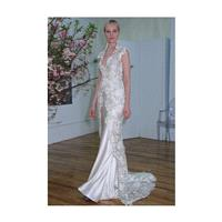 Elizabeth Fillmore - Spring 2013 - Arabelle Sleeveless Lace and Satin A-Line Wedding Dress with Keyh