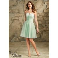 Mori Lee Tulle Affairs 113 Short Notch Bridesmaid Dress - Brand Prom Dresses|Beaded Evening Dresses|