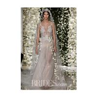 Reem Acra - Fall 2015 - Embroidered Illusion Nude Tulle Ballgown Wedding Dress - Stunning Cheap Wedd