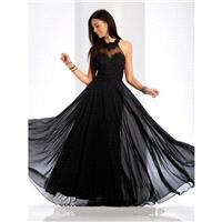 Clarisse - 3528 Jeweled Lace Applique Halter Gown - Designer Party Dress & Formal Gown