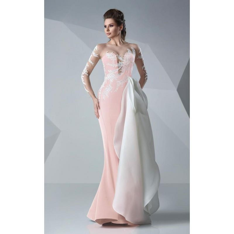 My Stuff, MNM Couture - Illusion Jewel Sheath Gown G0650 - Designer Party Dress & Formal Gown