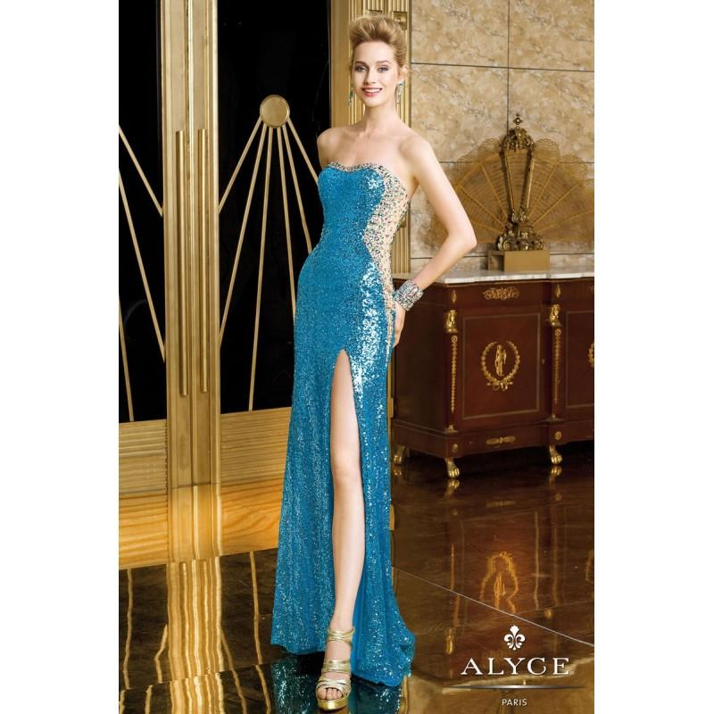 My Stuff, Turquoise Only Alyce Prom 6211 Alyce Paris Prom - Rich Your Wedding Day