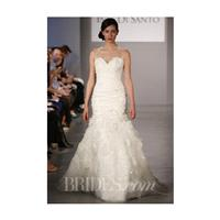 Ines Di Santo - Spring 2014 - Prival Silk Organza A-Line Wedding Dress with Illusion Sweetheart Neck