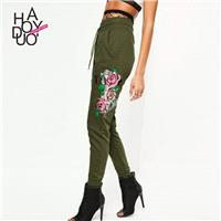 Vogue Sport Style Embroidery Summer Skinny Jean Long Trouser - Bonny YZOZO Boutique Store