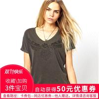 Vogue Printed Sketch Scoop Neck Wing Casual Short Sleeves T-shirt - Bonny YZOZO Boutique Store