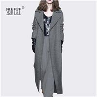 Vogue Slimming Column Wool Over Knee Cardigan Wool Coat Overcoat - Bonny YZOZO Boutique Store