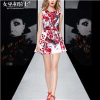 Vogue Attractive Printed Scoop Neck Sleeveless It Girl Summer Dress - Bonny YZOZO Boutique Store