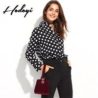 Fall 2017 new professional women's career dresses shirts casual wave temperament long sleeves shirt