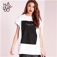Boyfriend Oversized Vogue Printed Alphabet Summer T-shirt - Bonny YZOZO Boutique Store