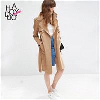 Vogue Split One Color Fall Tie Casual Coat - Bonny YZOZO Boutique Store