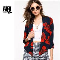 Must-have Printed Slimming 3/4 Sleeves Casual Top Suit Coat - Bonny YZOZO Boutique Store
