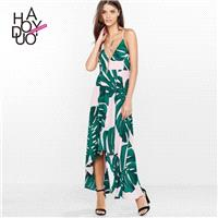 Sexy Open Back Printed Low Cut Summer Strappy Top Dress - Bonny YZOZO Boutique Store