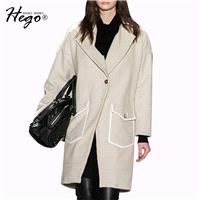 Vogue Polo Collar Wool One Color 9/10 Sleeves Wool Coat Overcoat Suit - Bonny YZOZO Boutique Store