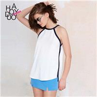 Vogue Sexy Sweet Hollow Out Sleeveless Summer T-shirt - Bonny YZOZO Boutique Store