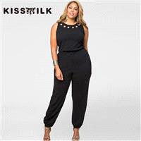 Vogue Slimming Curvy Plus Size Sleeveless Chic Jumpsuit - Bonny YZOZO Boutique Store