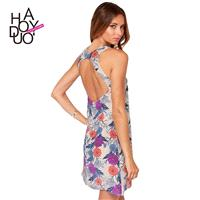 Countryside Oversized Vogue Sexy Open Back Printed Summer Dress - Bonny YZOZO Boutique Store