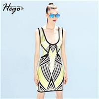Vogue Sexy Open Back Printed Solid Color Slimming Summer Formal Wear Dress Basics - Bonny YZOZO Bout