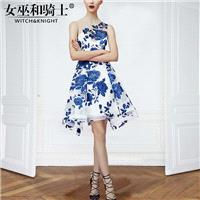 Attractive Embroidery Curvy Sleeveless Tulle It Girl Summer Formal Wear Dress Skirt - Bonny YZOZO Bo