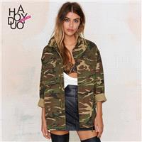 Must-have Army Style Vintage Army Casual Coat Jacket - Bonny YZOZO Boutique Store