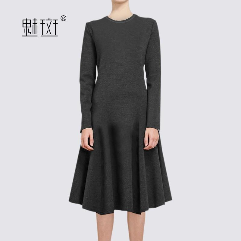 My Stuff, 2017 new ladies black long sleeve dresses, long at the end of the spring and autumn temper