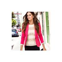 Street Style Slimming Long Sleeves Candy Color Suit Coat - Bonny YZOZO Boutique Store