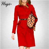 Elegant Vintage Attractive Curvy Polo Collar Wool It Girl Red Overcoat Coat - Bonny YZOZO Boutique S