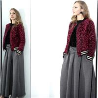 Fall/winter must-have thick layer bow space bust cotton skirt high waist long skirt 7075 - Bonny YZO
