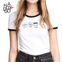 School Style Must-have Sweet Printed Cartoon Summer Casual Short Sleeves T-shirt - Bonny YZOZO Bouti