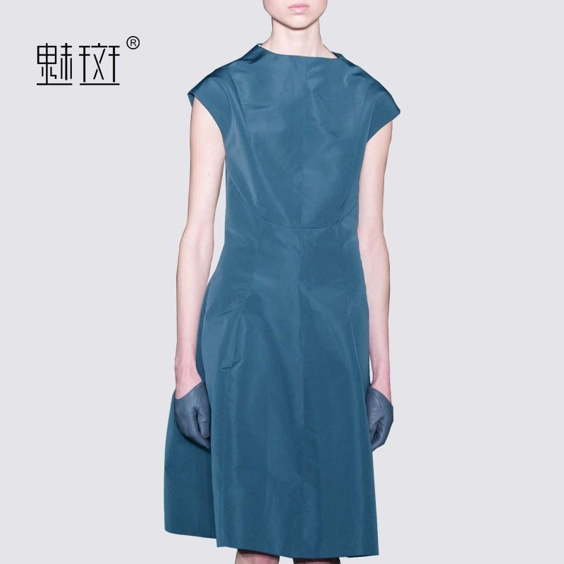 My Stuff, Slimming A-line Sleeveless Summer Blue Dress - Bonny YZOZO Boutique Store