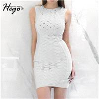 Night Club Sexy Hollow Out Slimming Sheath Crossed Straps Summer Formal Wear Tight Dress - Bonny YZO