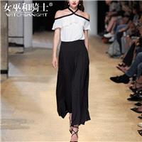 Vogue Attractive Slimming Chiffon It Girl Summer Short Sleeves Outfit Twinset Wide Leg Pant - Bonny