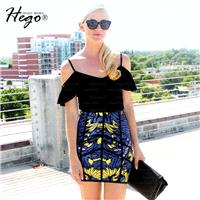 Office Wear Vintage Attractive Printed Slimming Sheath Butterfly Summer Skirt - Bonny YZOZO Boutique