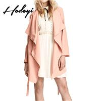 2017 winter new products women's fashion simple personality lapel lace jacket trench coat - Bonny YZ