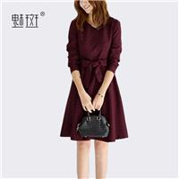 Bow Long Sleeves Fine Lady Dress Basics - Bonny YZOZO Boutique Store