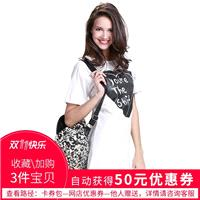 Oversized Printed Slimming Heart-shape Alphabet White Casual Short Sleeves Dress Skirt T-shirt - Bon