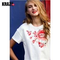 Embroidery Floral Delicate Casual T-shirt - Bonny YZOZO Boutique Store