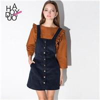 School Style Must-have Rivet Dress Overall Dress - Bonny YZOZO Boutique Store