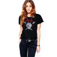 Must-have Street Style Oversized Vogue Printed Scoop Neck Summer Edgy T-shirt - Bonny YZOZO Boutique
