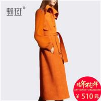 Split Front Jersey Wool One Color Over Knee Overcoat Coat - Bonny YZOZO Boutique Store