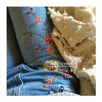 Embroidery Floral Light Blue Trendy Jeans Long Trouser - Bonny YZOZO Boutique Store