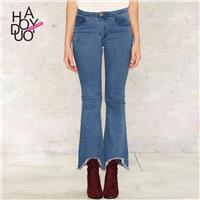 Vogue Asymmetrical Summer Jeans - Bonny YZOZO Boutique Store