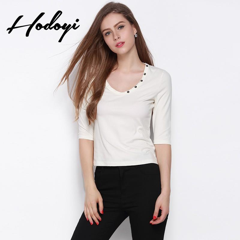 My Stuff, New slim white t shirt women's long sleeve t-shirt at the end of 2017 autumn white tunic c