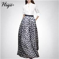 Elegant Vogue Attractive Printed High Waisted Outfit Long Skirt Blouse Top - Bonny YZOZO Boutique St