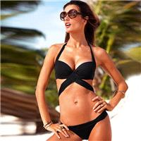 2017 fashion solid color bikini sexy triangle bikini-swimwear H1642 - Bonny YZOZO Boutique Store